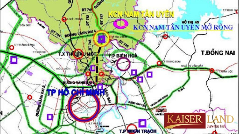 Bản đồ khu công nghiệp Nam Tân Uyên