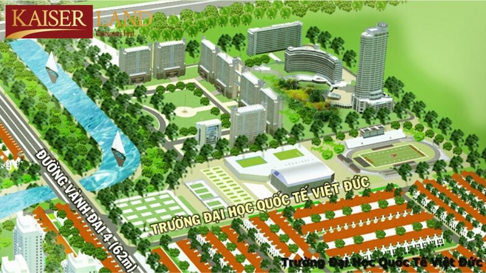 Bản đồ quy hoạc đại học Việt Đức