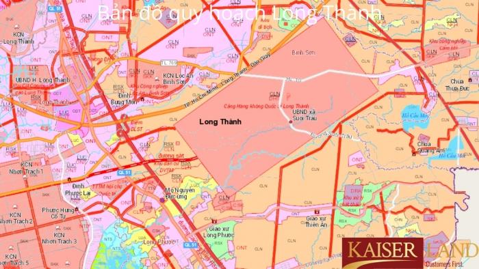 Bản đồ quy hoạch Long Thành