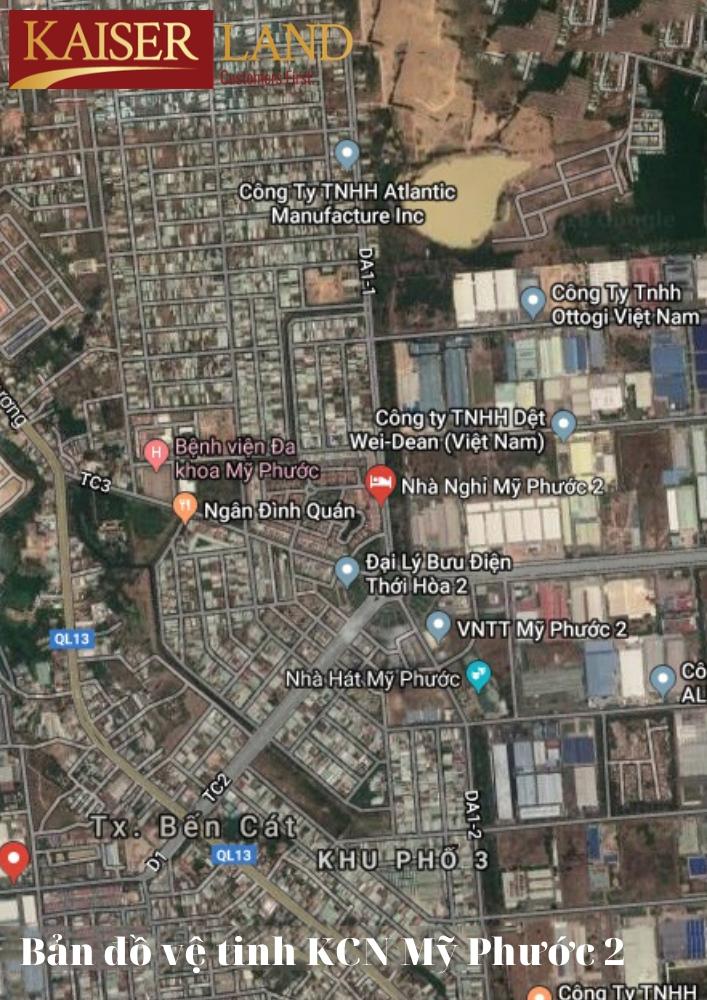 Bản đồ vệ tinh KCN Mỹ Phước 2